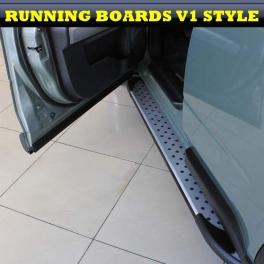 SsangYong Rexton Mk2 2006 up  Magnifique Marche pieds aluminium Exclusive Designs V1, V2, V3