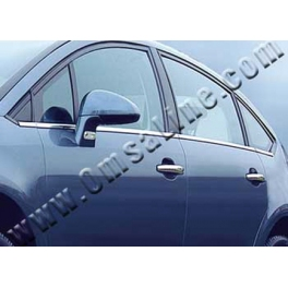 CITROEN C4 Mk1 Hatchback Windows Trims 8 pieces Chrome S. Steel 304