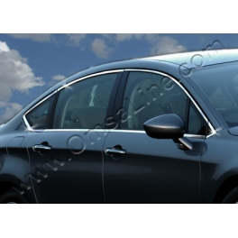 CITROEN C5 Mk2  Windows Trims 12 Pieces Chrome S. Steel 304