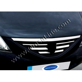 DACIA Logan Mk1  Grill Cover LOGO Chrome S. Steel 304