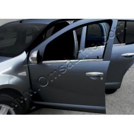 DACIA Sandero   Windows Trims 4 Pieces Chrome S. Steel 304