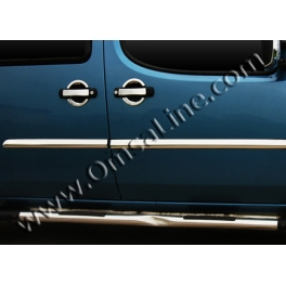 FIAT Doblo Mk1 Prefacelift  Door Mouldings Trims 4 Pieces Chrome S. Steel 304
