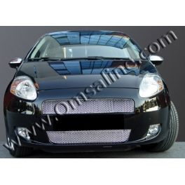 FIAT Grande Punto   Grill Cover 2 Pieces Chrome S. Steel 304