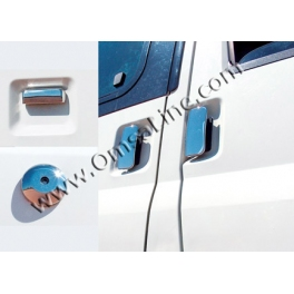FORD Transit Mk7  Door Handle Covers 4 Pieces 3 doors Chrome S. Steel 304