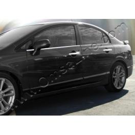 HONDA Civic Mk7  Windows Trims 4 Pieces Chrome S. Steel 304