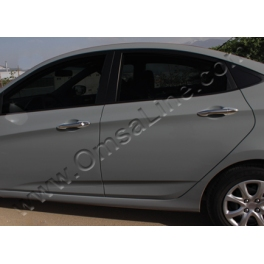 HYUNDAI Accent Mk4  Door Handle Covers  Chrome S. Steel 304