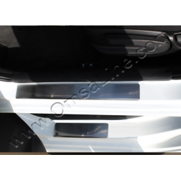 HYUNDAI Accent Mk4  Door sills BLUE Chrome S. Steel 304