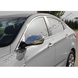 HYUNDAI Accent Mk4  Wing Mirrors 2 Pieces Chrome S. Steel 304