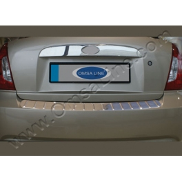 HYUNDAI Accent Mk3  Rear bumper protector  Chrome S. Steel 304