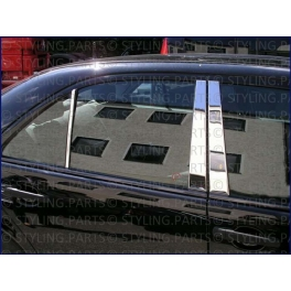 MERCEDES E W210  Door Pillars 6 pieces Chrome S. Steel 304