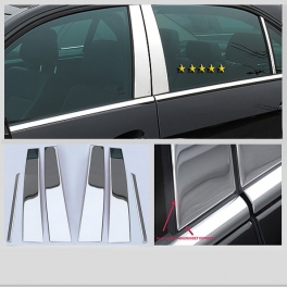 MERCEDES E W211  Door Pillars 6 pieces Chrome S. Steel 304