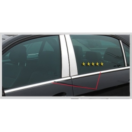 MERCEDES E W211  Windows Trims 4 Pieces Chrome S. Steel 304