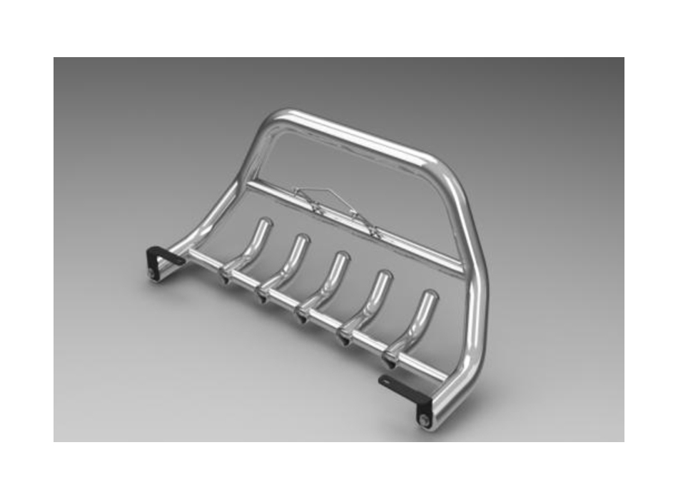 Volkswagen Caddy Mk3 2k Front Bull Bar With Bottom Grille