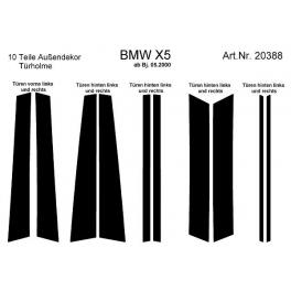 BMW X5 E53 Dash Trim Kit 3M 3D 10-Parts Doors