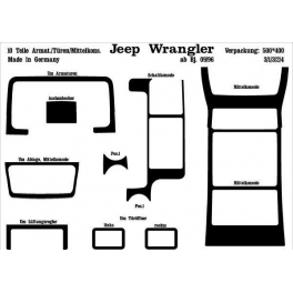 Chrysler Wrangler Mk2 TJ Dash Trim Kit 3M 3D 10-Parts