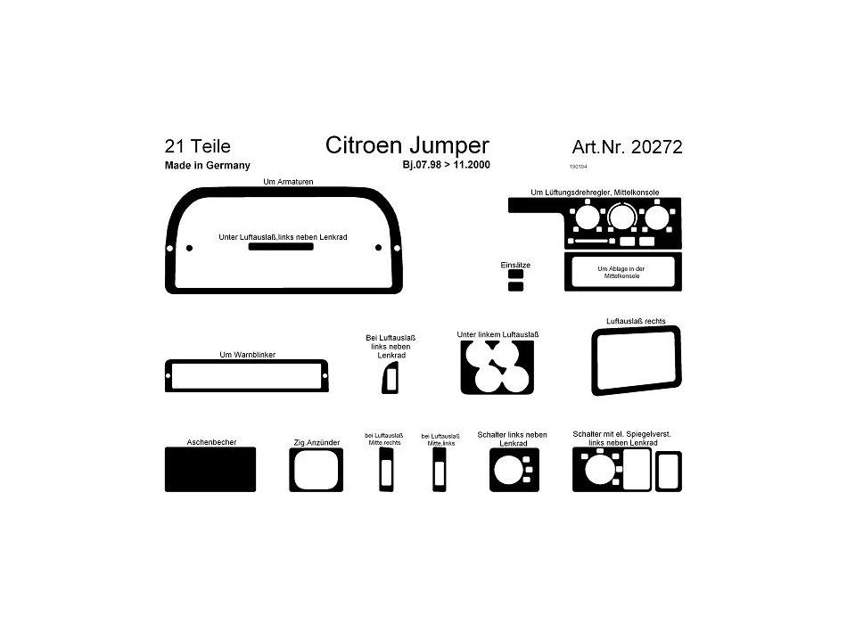 citroen jumper  relay mk2 dash trim kit 3m 3d 32
