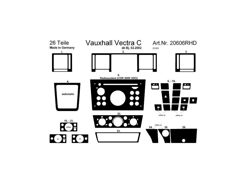 vectra c dash lights