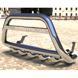 SUZUKI Grand Vitara Mk2 Front Bull-Bar With Bottom Grille and Logo FGBM02