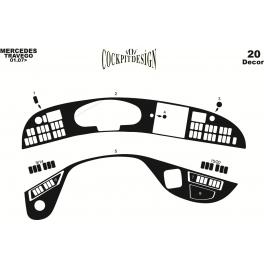 Mercedes Travego  Dash Trim Kit 3M 3D 25-Parts