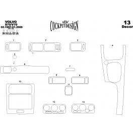 Volvo V70 Mk1 Dash Trim Kit 3M 3D 13-Parts