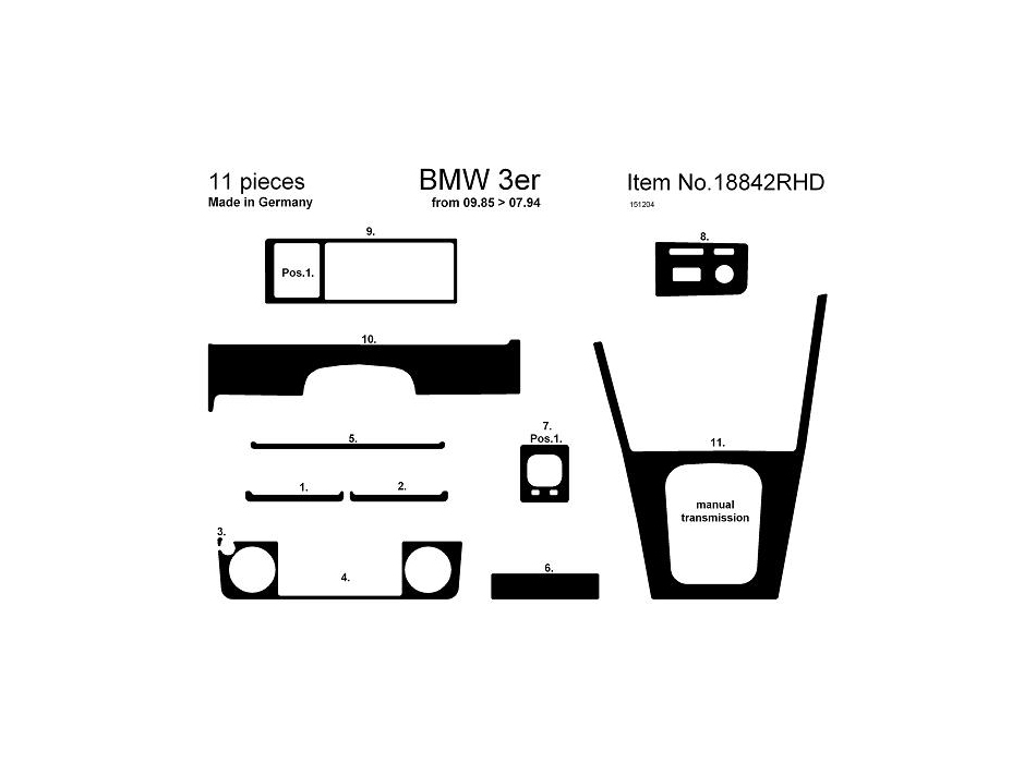 Bmw E30 Dashboard Parts Diagram Bmw Wiring Diagrams