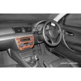 RHD BMW 1 Series E87 Dash Trim Kit 3M 3D 5-Parts