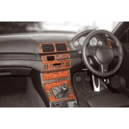 RHD BMW 3 Series E46 Compact Dash Trim Kit 3M 3D 19-Parts