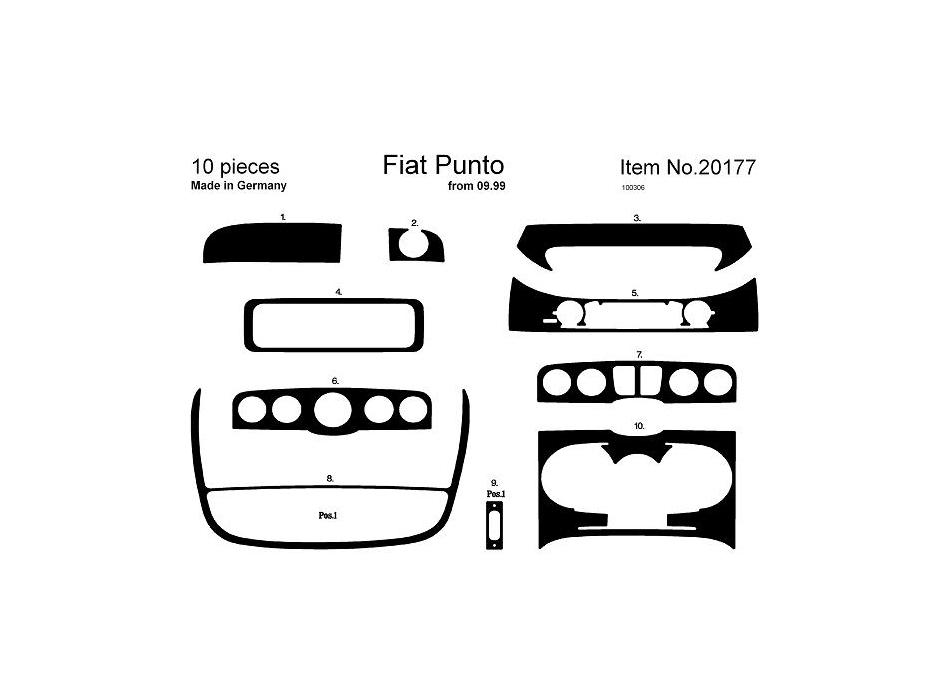 RHD Fiat Punto Mk2 Dash Trim Kit 3M 3D 9-Parts Fiat Punto Parts on porsche 911 parts, fiat uno parts, toyota yaris parts, audi a4 parts, citroen xantia parts, fiat brava parts, honda fit parts, ford fusion parts, fiat 500 parts, vw golf parts, audi tt parts, peugeot 405 parts, ford focus parts, mini parts, fiat palio parts, mazda rx-7 parts, fiat seicento parts, fiat 126 parts, fiat barchetta parts, isuzu trooper parts,