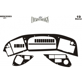 RHD Mercedes Tourismo  Dash Trim Kit 3M 3D 19-Parts
