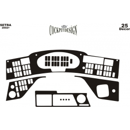 RHD Kassbohrer Setra 4-Series  Dash Trim Kit 3M 3D 13-Parts