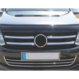 VOLKSWAGEN Amarok   Grill Cover 4 Pieces Chrome S. Steel 304