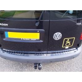 VOLKSWAGEN Caddy Mk3 2K  Rear bumper protector  Chrome S. Steel 304