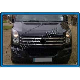 VOLKSWAGEN Crafter   Grill Cover 5 Pieces Chrome S. Steel 304