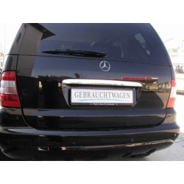 MERCEDES ML W163  Boot Lid Grip Trim Cover  Chrome S. Steel 304