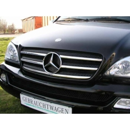MERCEDES ML W163  Grill Cover 5 Pieces Chrome S. Steel 304