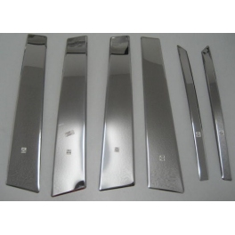 MERCEDES ML W164  Door Pillars 6 pieces Chrome S. Steel 304