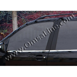 MERCEDES ML W164  Windows Trims 4 Pieces Chrome S. Steel 304