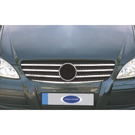 MERCEDES Vito  Mk2 W639 Prefacelift  Grill Cover 7 Pieces Chrome S. Steel 304