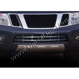 NISSAN NAVARA D40  Front bumper guard  Chrome S. Steel 304