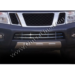 NISSAN Pathfinder Mk3 R51  Front bumper guard  Chrome S. Steel 304