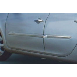 RENAULT CLIO Mk3  Door Mouldings Trims 6 pieces Chrome S. Steel 304