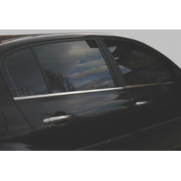RENAULT Megane Mk2 Saloon Windows Trims 4 Pieces Chrome S. Steel 304
