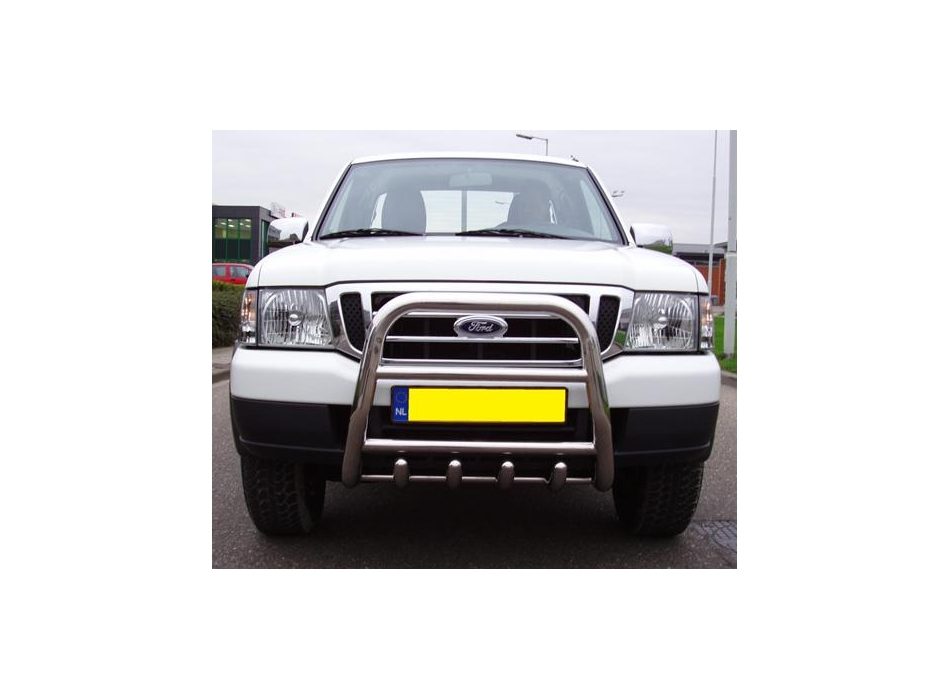 Ford Ranger Mk1 Front High Bull Bar With Lower Grille And
