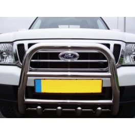 FORD Ranger Mk1 Front High Bull-Bar With Lower Grille and Logo FGBH02