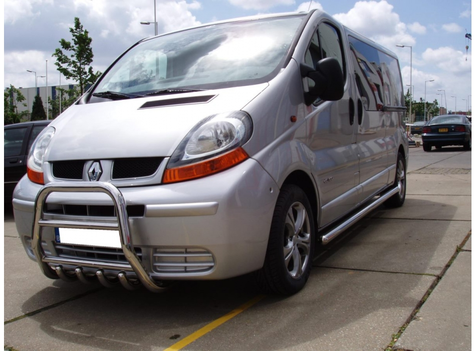 Renault Trafic Front High Bull Bar With Lower Grille Fgbh01