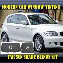 Stores rideaux pare-soleil sur mesure pour BMW 1 SERIES E87 2004-2011 Five-door hatchback 3 fenêtres 3 metal,8 supports