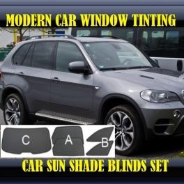 Stores rideaux pare-soleil sur mesure pour BMW X5 E70 2007–2013 5 fenêtres (big) 3 metal,22 supports
