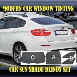 Stores rideaux pare-soleil sur mesure pour BMW X6 E71/E72 2008-2012 5 fenêtres (big) 22 supports