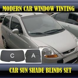Stores rideaux pare-soleil sur mesure pour CHEVROLET Spark Mk2 M200-M250 2005-2009 3 fenêtres 8metal, 5supports