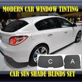Stores rideaux pare-soleil sur mesure pour CHEVROLET Cruze LT hatchback 2011up 3 fenêtres 2 metal,12 supports
